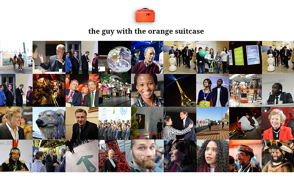 the guy with the orange suitcase